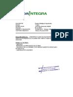 Certificado Josefa