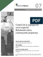 Control de La Segregación Socioespacial