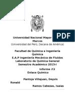 Química Informe3 EnlaceQuímico