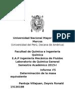 Química  Informe5 DeterminaciónDeLaMasaEquivalente