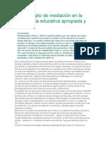 Concepto de Mediacion en Tecnologica Educativa