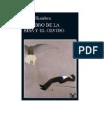 Kundera Milan - El Libro de La Risa Y El Olvido