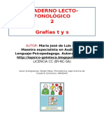 Cuaderno Lecto-fonológico LETRAS T S