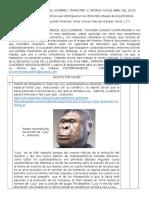 Webquest n.2 Origen Del Hombre.