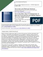 Cartels and Terrorism Shawn Teresa
