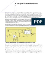 DC-Controlled Low-pas Filter Has Variable Breakpoint
