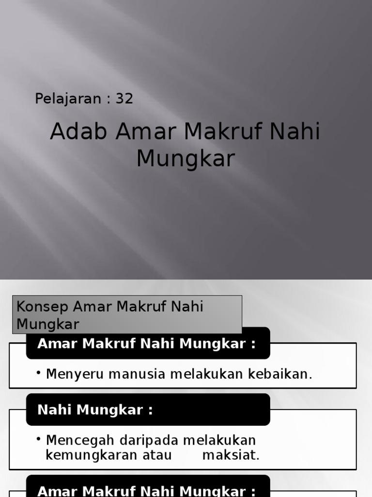 Adab Amar Ma Ruf Nahi Mungkar Pqs