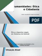 Humanidades Ética e Cidadania Na Informaica