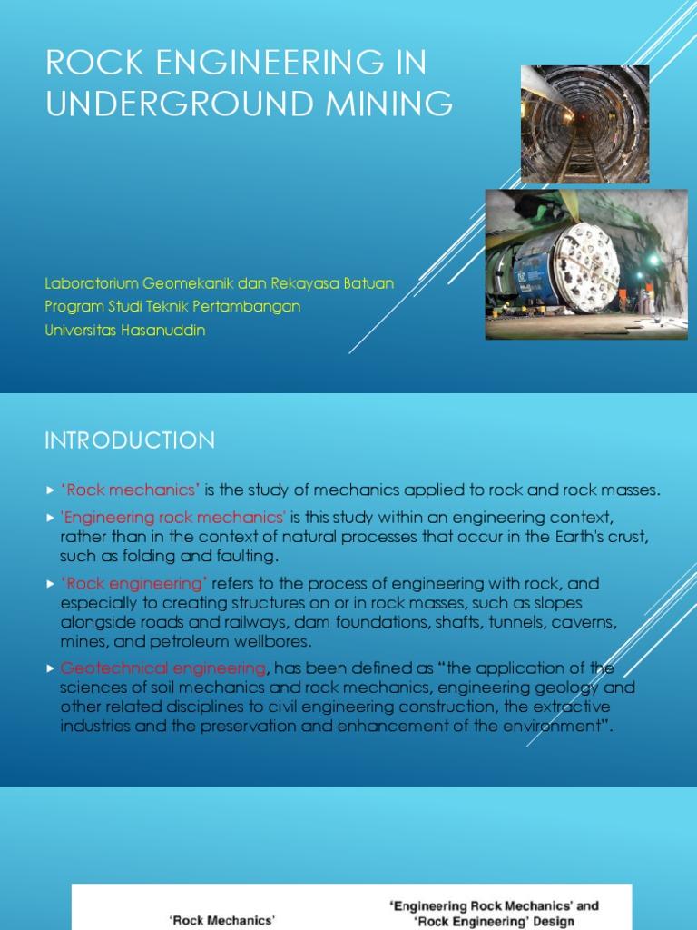 Rock mechanics for underground mining pdf writer