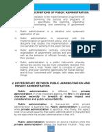 Public Admin 203 - Intro to Public Admin