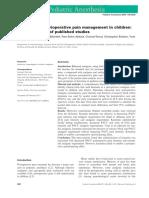 Ketamine for Perioperative Pain Management in Children