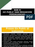 Bab III Go Public Dan Mekanisme Perdagangan