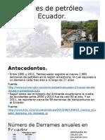 Derrames de Petróleo en Ecuador