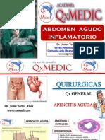 Abdomen Agudo Inflamatorio. Apendicitis Aguda. Colecistitis Aguda. Diverticulitis. Peritonitis.pdf