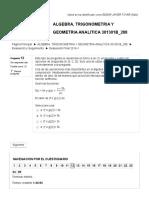 Evaluación Final 2016-1 ALGEBRA 06