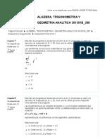 Evaluación Final 2016-1 ALGEBRA