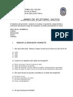 Examen de Atletismo