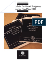 An Analysis of the President's Budgetary Proposals for Fiscal Year 2011