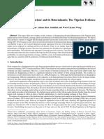 2016 Dividend Payment Behaviour Determinants Nigerian Evidence