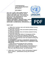 Somali Entrepreneurs Receive Training On Doing Business With The United Nations