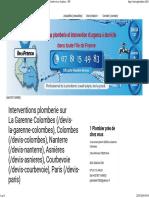 Plombier et interventions de plomberie au 07.81.15.49.83 - La-Garenne-Colombes, Paris, Nanterre, Courbevoie Et Asnières - IDF