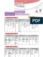 Programação - Reflexões sobre a ação do Pedagogo - maio 2010 - Oficinas e Minicursos