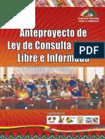 AntepANTEPROYECTO DE LEY DE CONSULTA PREVIA LIBRE E INFORMADA