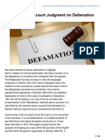 Lawweb.in-latest Supreme Court Judgment on Defamation