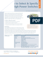 How to Select & Specify High Power Switches
