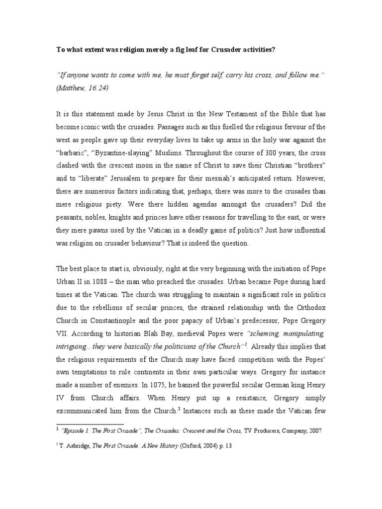Crusades essay