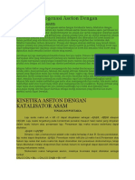 Kinetika Halogenasi Aseton Dengan Katalisator Asam