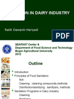 Sanitation in Dairy Industry