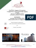 ScuolaTao Presentazione Viaggio Cina 2016