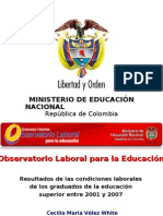 Resultados Observatorio Laboral MEN