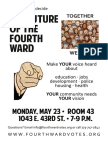Fourth Ward meeting this Monday