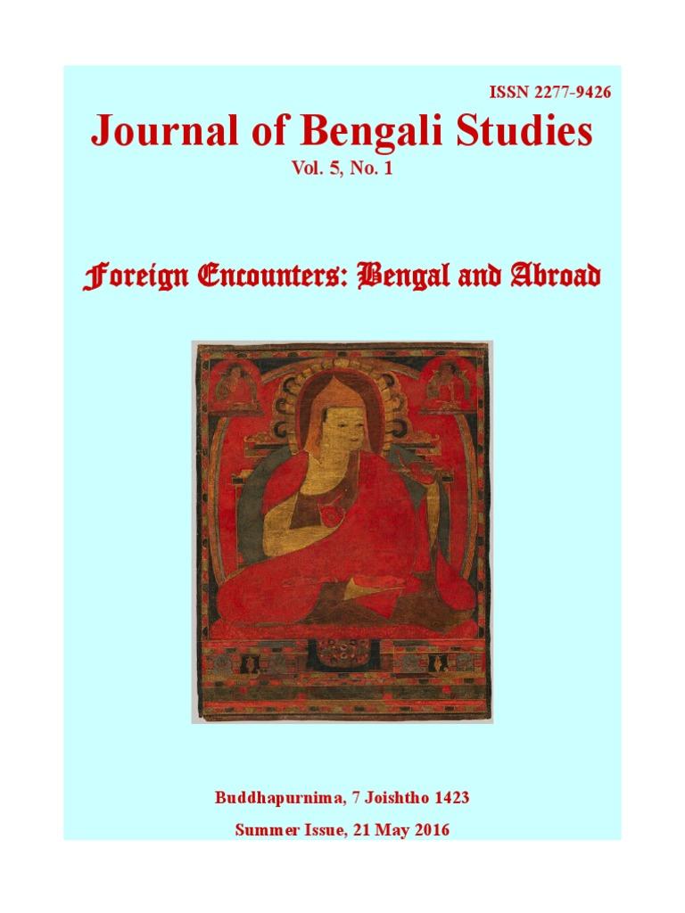 Journal of Bengali Studies Vol.5 No.1 | Bengal | Soviet Union