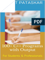 100+ C++ Programs with Output For Students & Professionals - Aniket Pataskar
