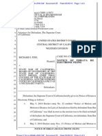 USDC - Dkt 25 - Errata - filed by Calif Supreme Ct in support of Motion to Dismiss
