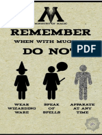 Ministry of Magic Advice