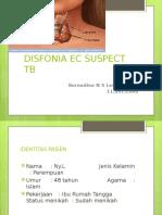 Disfonia Ec Suspect Tb