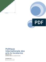 La Politique International de Prix