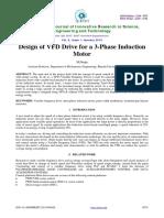Design of VFD Drive for AC Motor