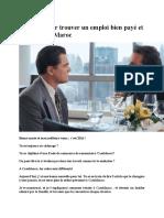 21 Règles Pour Trouver Un Emploi Bien Payé Et Le Garder Au Maroc