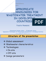 Appropriate Technologies for Wastewater Treatment