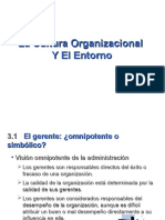 Capitulo 3 La Cultura Org. y El Entorno