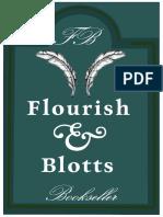 Flourish & Blotts Hanging Sign