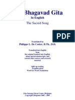 Bhagavad Gita in English by Philippe L de Coster