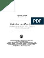 Calculus on manifolds - Spivak, M.pdf