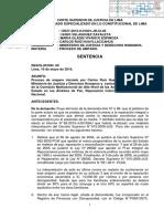 Sentencia del Quinto Juzgado Constitucional de Lima, que declaró fundada la demanda de amparo interpuesta por el ciudadano Carlos Ruíz Huayllccahua