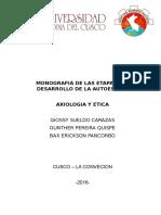 Monografia de Las Etapas de La Autoestima